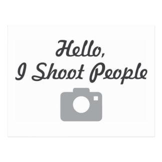 Fotografförderung hallo, schieße ich Leute Postkarten