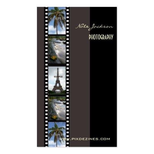 Fotograffotoschablone/diy Schriftart Visitenkarten
