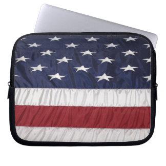 Fotografie der amerikanischer Flagge Laptop Sleeve