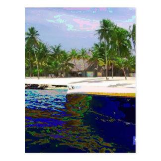 Fotografie der maledivischen Inseln Postkarte