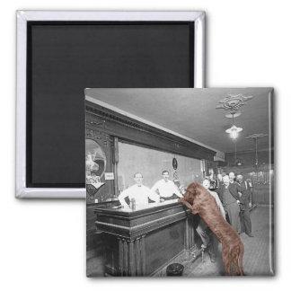 Fotografie des Hundefreundliche Quadratischer Magnet