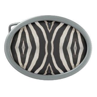 Fotografie des Pelzes eines wirklichen Zebras Ovale Gürtelschnalle