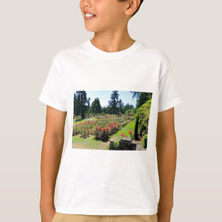 Fotografie des Rosen-Gartens, Portland, Oregon T-Shirt