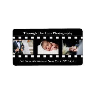 Fotografie-Film-Rahmen-Foto-Fotograf Adressaufkleber