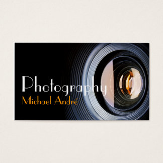 Fotografie-Fotograf-Kameraobjektiv Visitenkarte