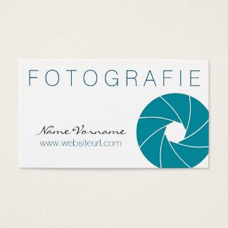 fotografie visitenkarte