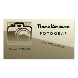 fotografie visitenkarten