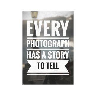 Fotografie-Zitat-Leinwand Leinwanddruck