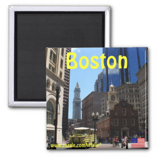 Fotografiemagnet Bostons Massachusetts Quadratischer Magnet