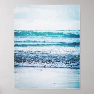 Fotografieplakatdruck der Ozean-Wellen-Versions-3 Poster