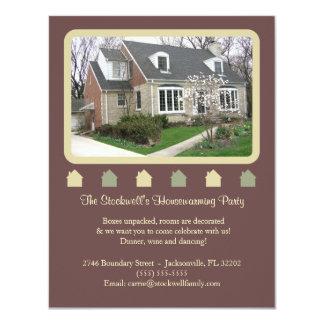 Fotohousewarming-Einladung - Brown 10,8 X 14 Cm Einladungskarte