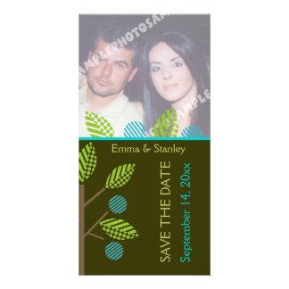Fotokarte der Apfelbaum-Hochzeit im Herbst Save