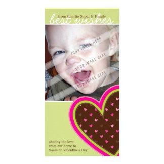 FOTOKARTE DES VALENTINES TAGES:: flippige Herzen Karte