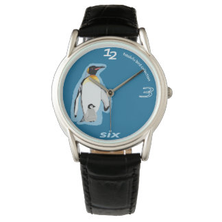fotolulu-Pinguin-Uhr Armbanduhr