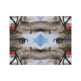 Fotomontage-Roosevelt-Insel Leinwanddruck