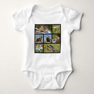 Fotomosaik alpine Murmeltiere und edelweiss Baby Strampler