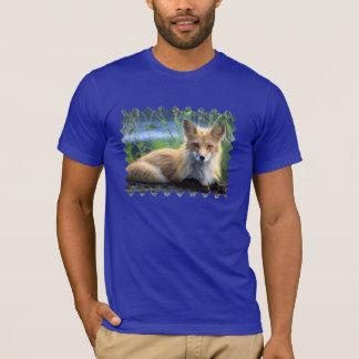Fotoporträt-Männer des roten Fuchses der T - Shirt
