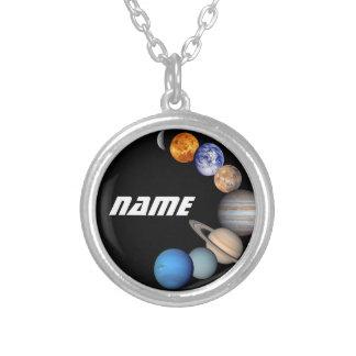 Fotos Solarsystemmontage-JPL - fertigen Sie Namen Versilberte Kette