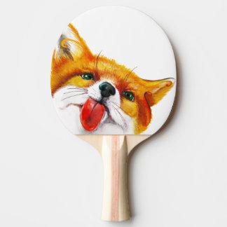Fox-Aquarell Tischtennis Schläger