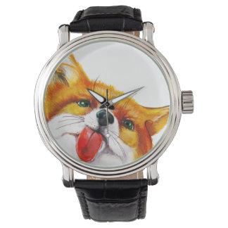 Fox-Aquarell Uhr