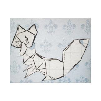 Fox auf Lilie Leinwanddruck