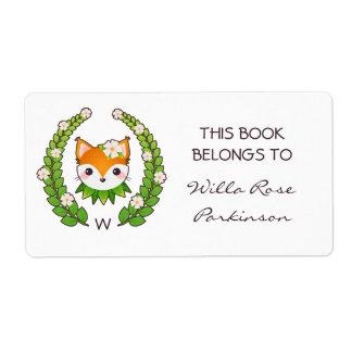 Fox-BlumenKranz dieses Buch gehört Versandetikett
