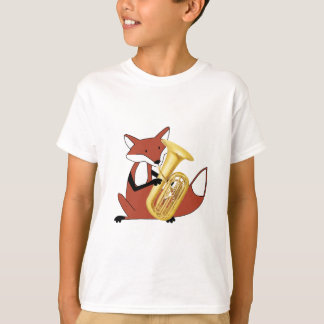 Fox, der den Tuba spielt T-Shirt