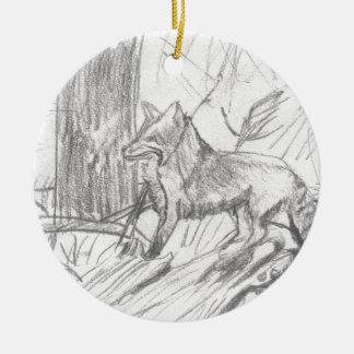 Fox, der Eliana zeichnet Keramik Ornament