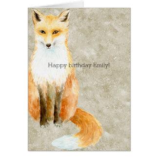 Fox-Geburtstag Karte