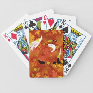 Fox im Wald Bicycle Spielkarten
