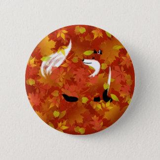 Fox im Wald Runder Button 5,1 Cm