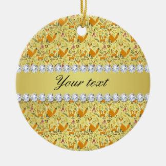 Fox-Imitat-Goldfolie Bling Diamanten Keramik Ornament