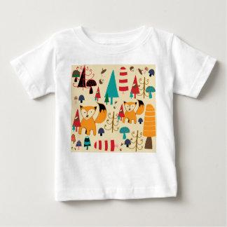 Fox in wildem baby t-shirt