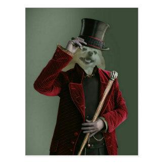 Fox ist der unsichtbare Mann Postkarte