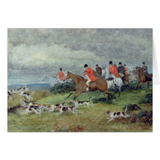 Fox-Jagd in Surrey, 19. Jahrhundert Karte