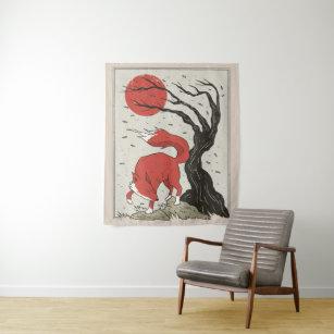 Japanisch Welle Wandteppich Wandteppiche Kanagawa Wandkunst Heim-Deko Retro