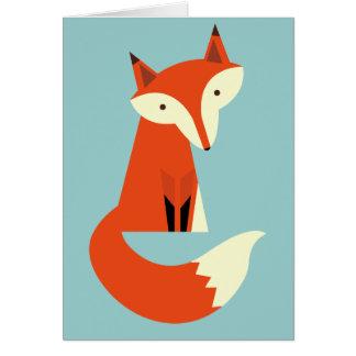 Fox Grußkarte