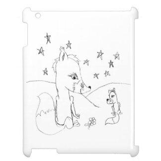 Fox-Liebe-Paar-Bleistift-Zeichnen iPad Hülle