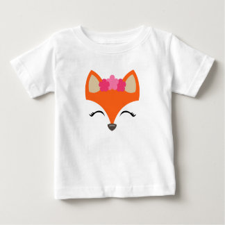 Fox mit Blumen-Kronent-stück für Kinder Baby T-shirt