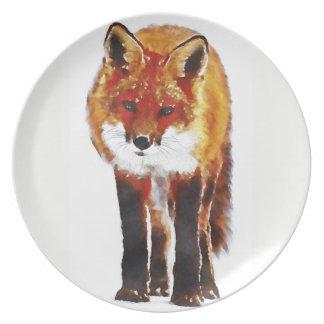 fox Platte, Fuchsmelaminteller, Fuchsgeschenk Melaminteller