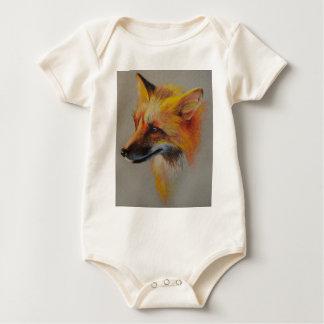 Fox-Porträt Baby Strampler