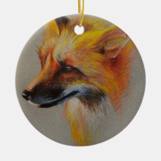Fox-Porträt Keramik Ornament