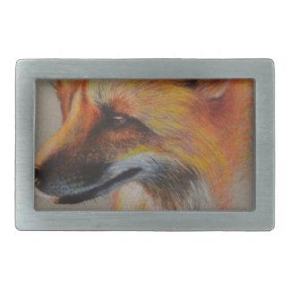 Fox-Porträt Rechteckige Gürtelschnalle