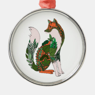 Fox Silbernes Ornament