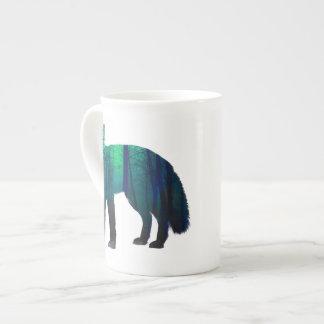 Fox-Silhouette - Waldfuchs - Fuchskunst - wildfox Porzellantasse