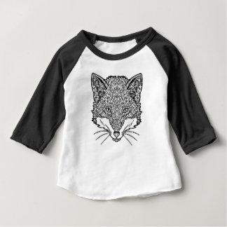 Fox-Tätowierung Kunst - schwarzes Baby T-shirt