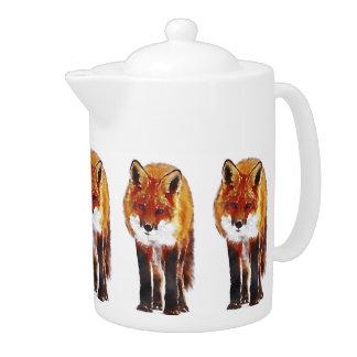 fox Teekanne, Fuchskaffeetopf, Fuchsgeschenk