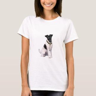 Fox-Terrier (a) - machen Sie glatt - Schwarz-weiß T-Shirt