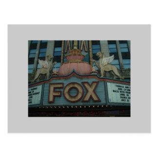 Fox-Theater, Detroit, Michigan Postkarte