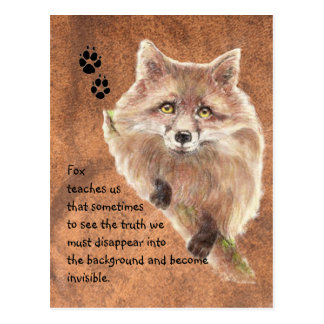 Fox, Tiertotem, Geist-Führer, Symbol Postkarte